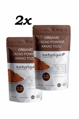 Naturiga Organik Kakao Tozu 100gr 2 adet