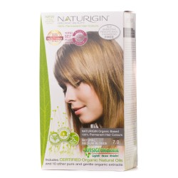 Naturigin - Naturigin Organik Saç Boyası Doğal Orta Sarı 7.0