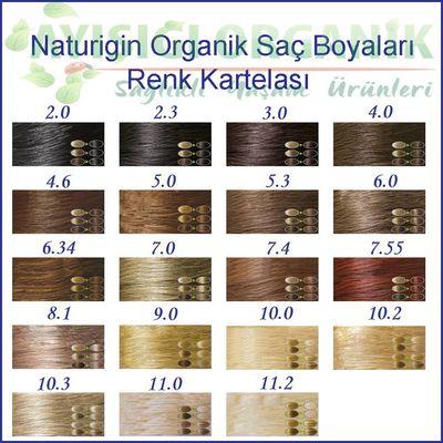 Naturigin Organik Saç Boyası Ebony Siyah 2.3