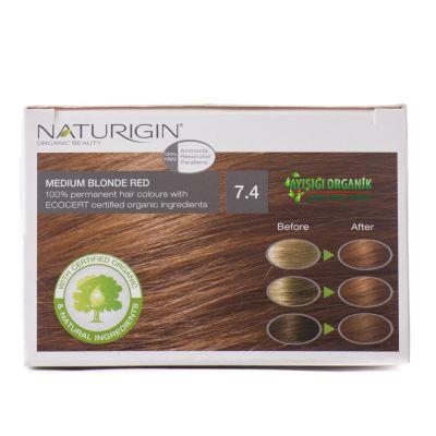 Naturigin Organik Saç Boyası Orta Sarı Kızıl 7.4