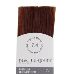 Naturigin Organik Saç Boyası Orta Sarı Kızıl 7.4 - Thumbnail