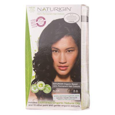 Naturigin Organik İçerikli Saç Boyası Siyah 2.0