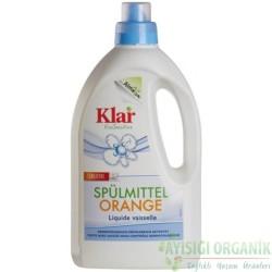 Klar - Organik Klar Elde Bulaşık Yıkama Sıvısı Portakal Kokulu 1,5lt