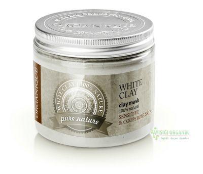 Organique Kil Maskesi Beyaz Kaolin Hassas ve Kuperozlu Ciltler 200ml