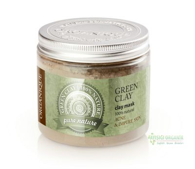 Organique Kil Maskesi Yeşil Yağlı ve Akneli Ciltler 150gr