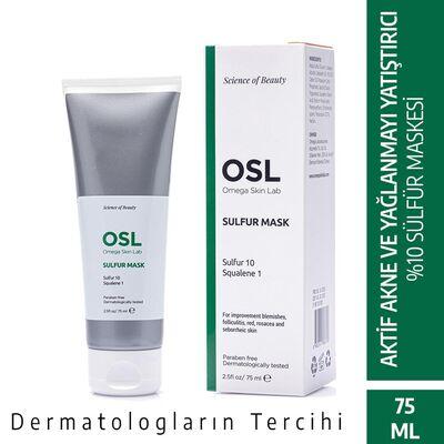 OSL Omega Skin Lab Akneli ve Yağlı Cilt Sülfür Maskesi 75ml