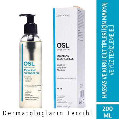 OSL Omega Skin Lab Squalene Hassas Kuru Cilt Makyaj ve Yüz Temizleme Jeli 200ML