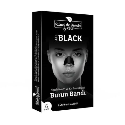 Rituel de Beaute Black Aktif Karbon Siyah Nokta ve Kir Temizleyici Burun Bandı 1 Kutu
