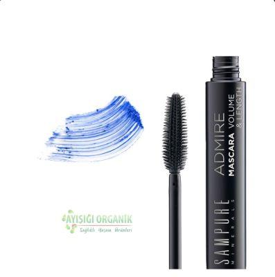 Sampure Minerals Blue Mavi Uzun ve Hacimli Kirpikler Maskara 12g