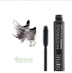 Sampure Minerals - Sampure Minerals Mineral Maskara Black Siyah Maskara Ekstra Uzun Kirpikler 12g