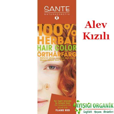 SANTE Organik Bitkisel Toz Saç Boyası (Alev Kızılı) 100gr