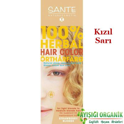 SANTE Organik Bitkisel Toz Saç Boyası (Kızıl Sarı) 100gr