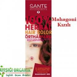 Sante - SANTE Organik Bitkisel Toz Saç Boyası (Mahagoni Kızılı) 100gr