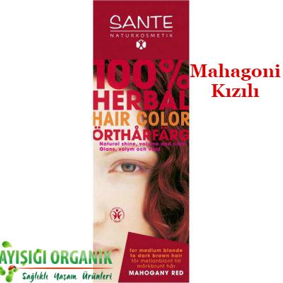 SANTE Organik Bitkisel Toz Saç Boyası (Mahagoni Kızılı) 100gr