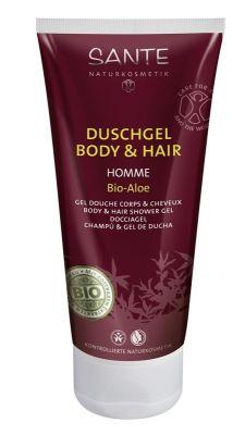 SANTE Organik Erkek Vücut ve Saç Duş Jeli (Aloe) 200ml