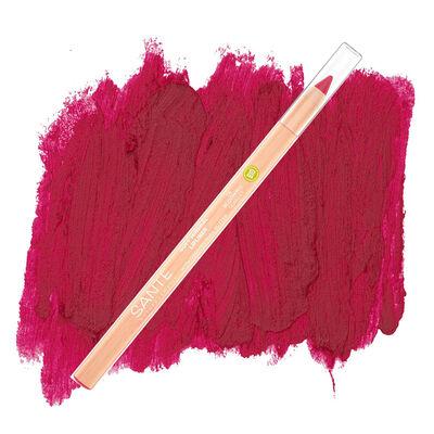 Sante Organik Yumuşak Renk Veren Dudak Kontur Kalemi 04 Çiçek Kızılı