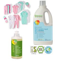 Sonett - Sonett Bebeklere Özel Organik Leke Çıkarıcı Çamaşır Yıkama Seti