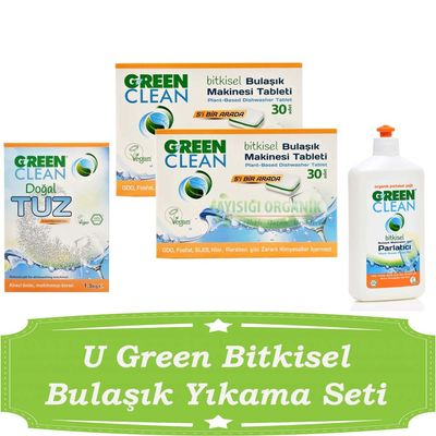 U Green Bitkisel Bulaşık Yıkama Seti