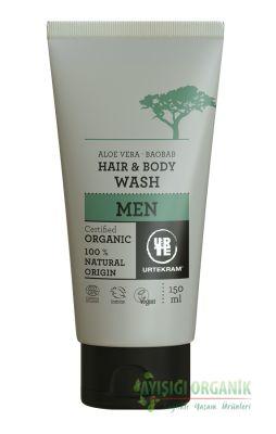 Urtekram Baobab ve Aloe Vera Özlü Saç ve Vücut Yıkama Erkekler İçin