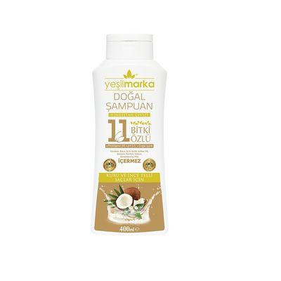 Yeşilmarka 11 Bitki Özlü Doğal Şampuan Kuru Ve İnce Telli Saçlar İçin
