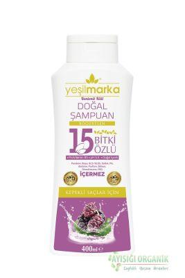 Yeşilmarka 15 Bitki Özlü Doğal Şampuan Kepekli Saçlar için