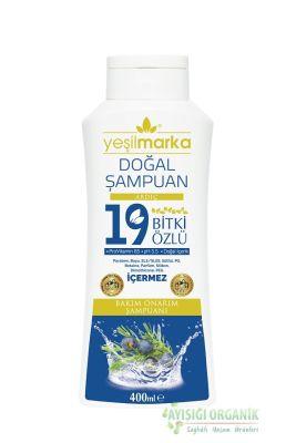 Yeşilmarka 19 Bitki Özlü Doğal Bakım Onarım Şampuanı